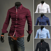 Wholesale Round Bottom Casual Classical Man Slim Fit Dress Shirt