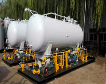 hot sale mobile lpg gas filling skid station