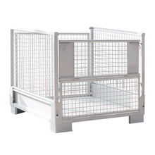 tackable folding metal wire mesh pallet cage with high quality