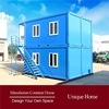 top fireproofed with flat pack prefab prefab container office house for precast house with CE Certification