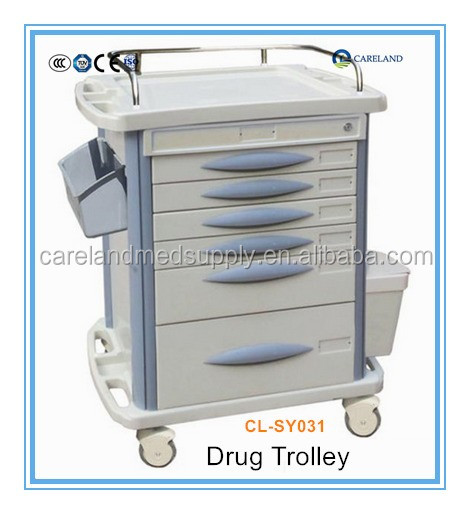 Clinic emergency Hospital nursing cart medical mediation medicine trolley for drugs
