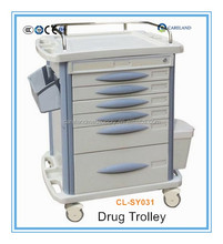 Hospital medical ABS nursing crash cart emergency drug trolley