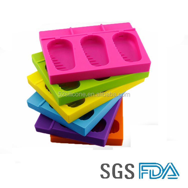 2016 new style delicious ice cream tray silicone tool making ice cream