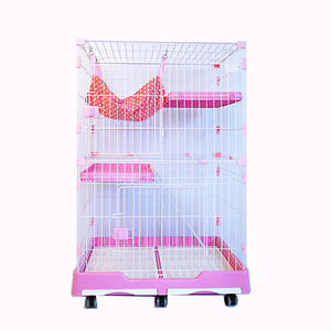 Luxury Pet Products Premium Deluxe Large Space Cat Home Cage With Wheels