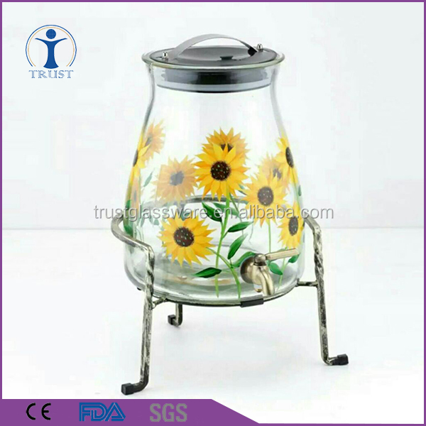 Fashion Color Decar Big Size beverage jar with faucet