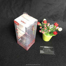plastic good quality clear packaging PVC folding gift box