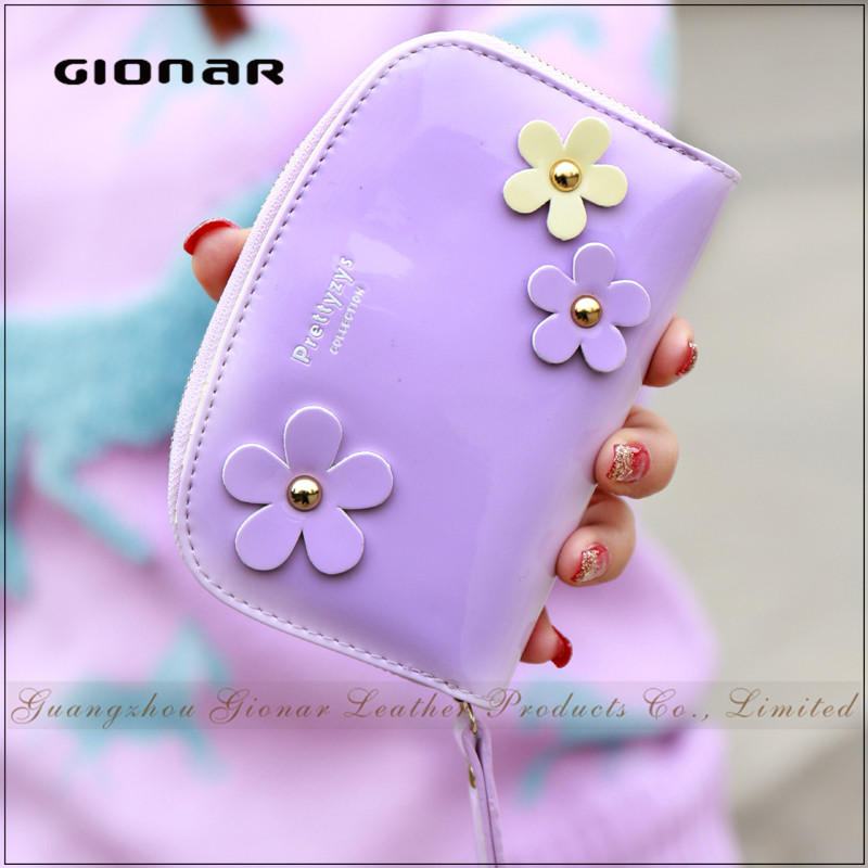 Stylish Flower Hold Up to 10 <strong>Cards</strong> Short Coin Zipper Pocket Cute Korean Wallet