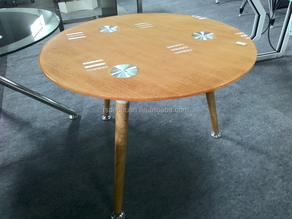 Modern glass circle desk conference console table