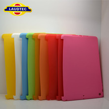 Laudtec For iPad Air For iPad 5 TPU Back cover case Work With Smart Cover Colorful TPU Rubber/Silicone Protective Case