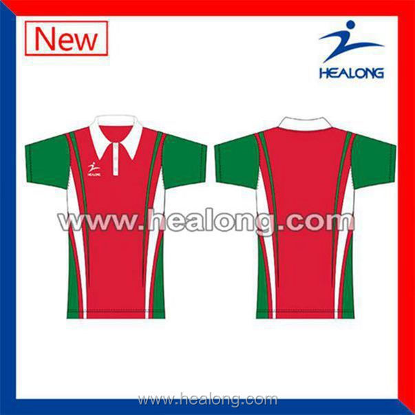 Healong Sublimation Printing Cool Max Color Combination Man Polo Shirt