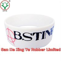 1 inch silicone wristband promotional giveaways