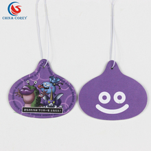 custom various shapes paper air freshener car for advertising gifts