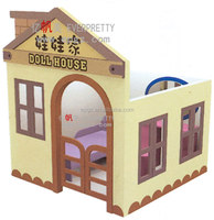 Colorful Wooden Doll/Play/Kids Dolls House Kids Cubby House