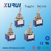mini toggle switch / 6 pin dpdt momentary toggle switch / mini long handle toggle switches on-off-on