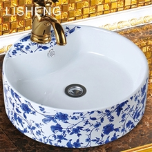 Durable smooth colorful ceramic sanitary ware cabinet outdoor wash sinks water basin