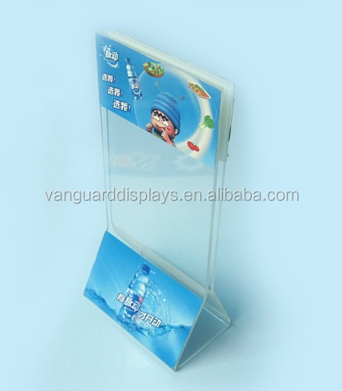 Acrylic Tabletop Menu Display Stand, Menu Holder
