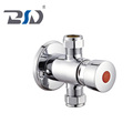 Self-Closing Brass Chrome Non-Concussive Exposed Shower Valve