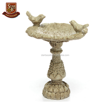 Europe dollhouse leisure miniature resin bird bath fountain fairy outdoor garden furniture