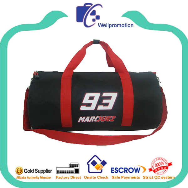 Round shaped polyester sports bag travel bag for men