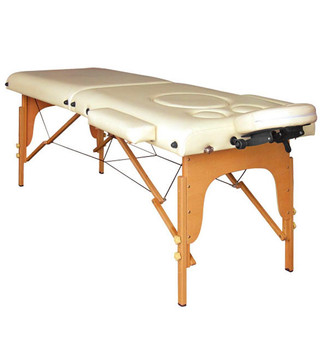 portable wood pregnant women massage table with soft foam and SOLID Wood