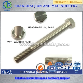 security door stainless steel threaded bolt