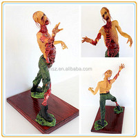 Plastic party decor figurine zombie, Halloween figure zombie, The Walking Dead figure zombie