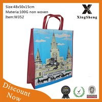 Customized design CMYK printing shopping tnt non woven bag