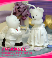 Wedding Bear Art Candle Holder For Decoration