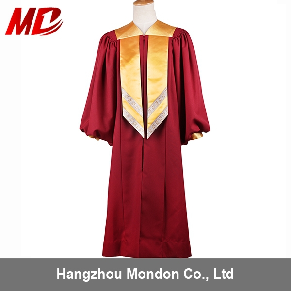 Deluxe Wholesale Choir Robe church dress with women church hats for ladies