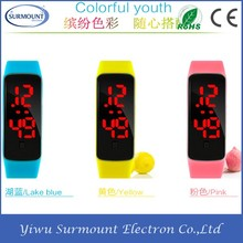 Colorful Silicone Waterproof Date Alarm Sport Health Smart Watch Bracelet
