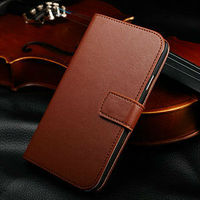 High quality genuine leather wallet case for note 3 , bling case for samsung galaxy note 3 n9000
