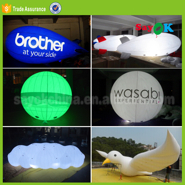 Advertising balloon big inflatable helium balloon with led light