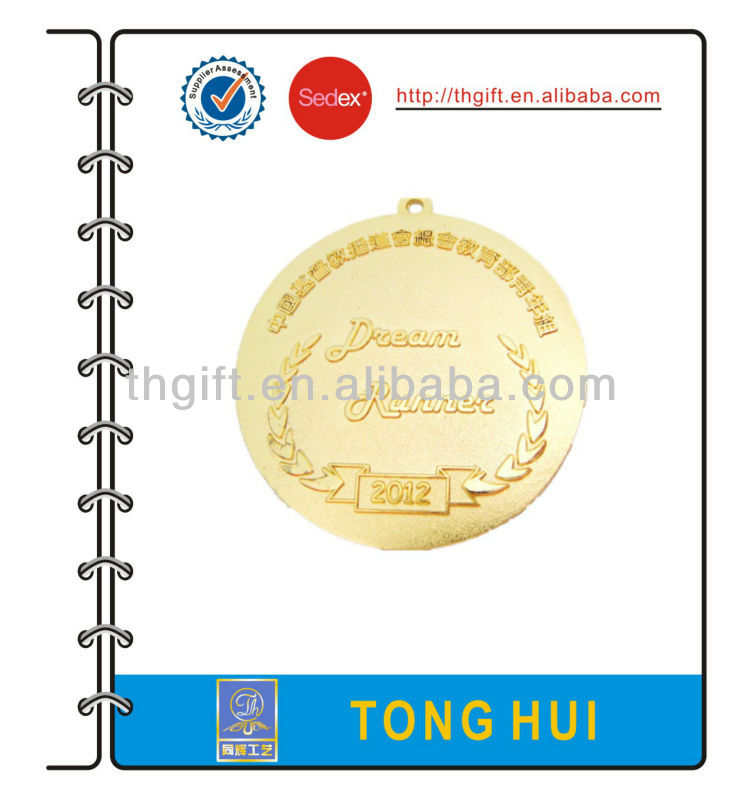 2013 hot sale award metal medal with ribbon
