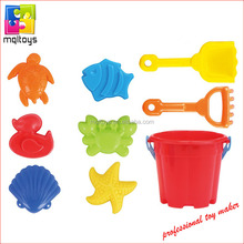 Beach toy set 6pcs beach mold 2pcs beach shovel 1 plastic bucket