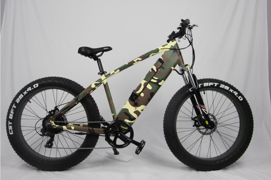 Apollo fat tire electric bike mountain bike 48v 500w with suspension front fork