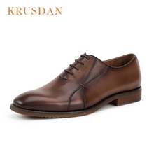 High quality classic genuine leather dress shoes classy lace up men customized shoes