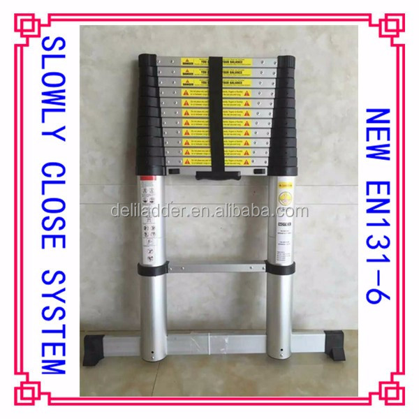 2m/2.6m/3.2m/3.8m/4.1m/4.4m/4.9m/5.1m foldable aluminum ladder,telescopic ladder