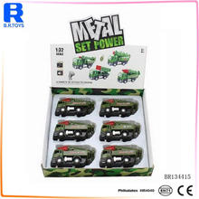 Pull back military missile car diecast scale models with battery