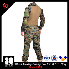 Xinxing High quality CVC65/35 twill fabric military camo close-fitting tactical combat Suit