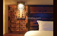 Reclaimed Wood mosaic interior Wall decoration material panel