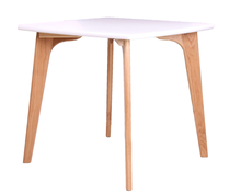Latest modern cheap designs of mdf top wooden dining tables