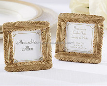 Gold Feather Frame Place Card frame indian <strong>wedding</strong> favors DHL freeshipping