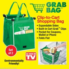 Hot selling Shopping Cart Folding Rolling Wheels Grocery Bag Trolley