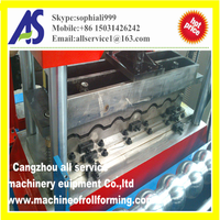 High quality aluminum step tile forming machine