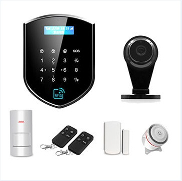 WIFI+<strong>GSM</strong>+RFID Intelligent voice burglar alarm system with 433/868MHz