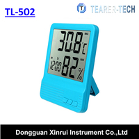 2016 tl-502 Digital LCD Room Temperature and Humidity Meter Thermometer Hygrometer Clock Alarm