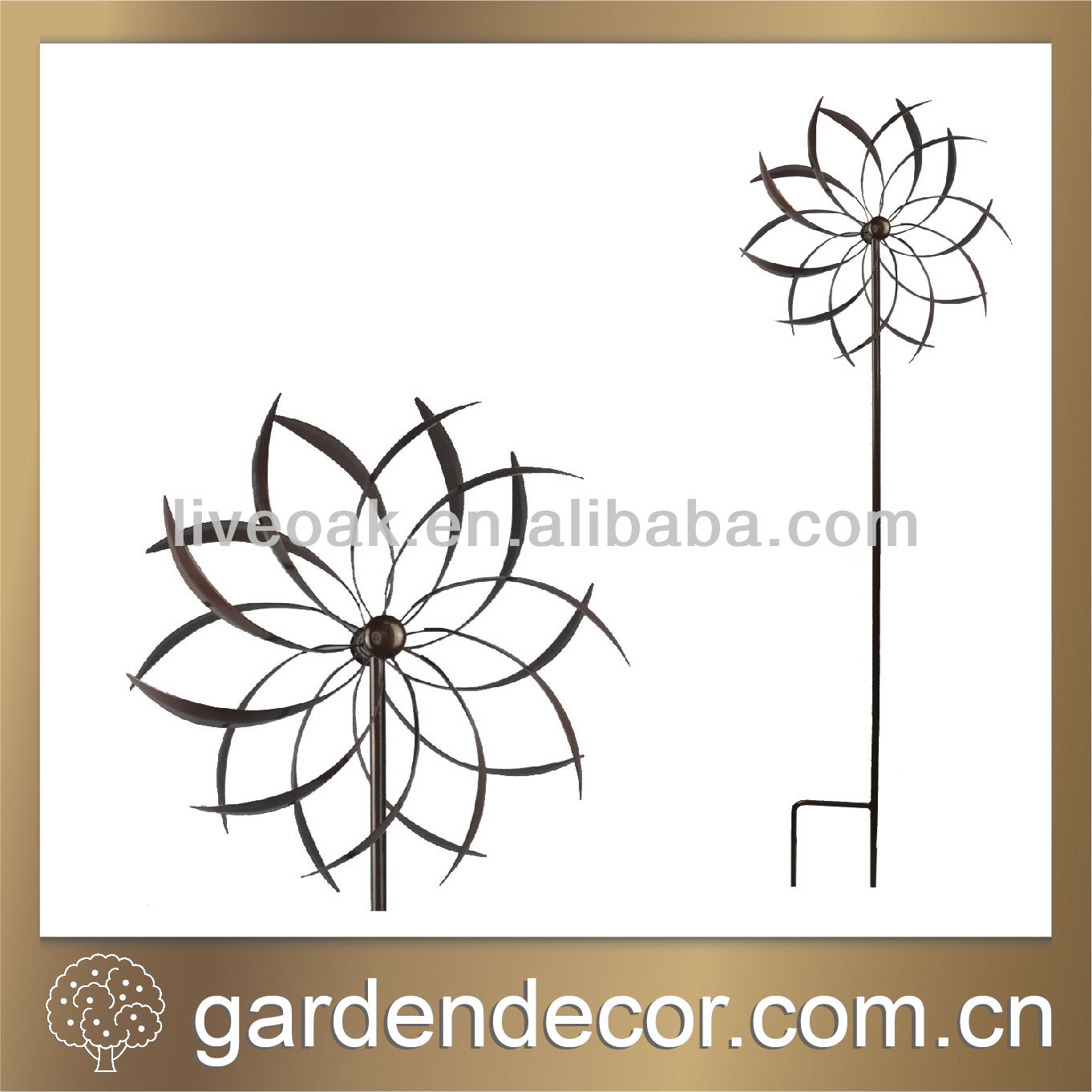 hot new products for 2014 garden decoration garden windmill metal windmill