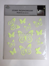 Customized Glow in the dark wall decal Butterfly fluorescent sticker