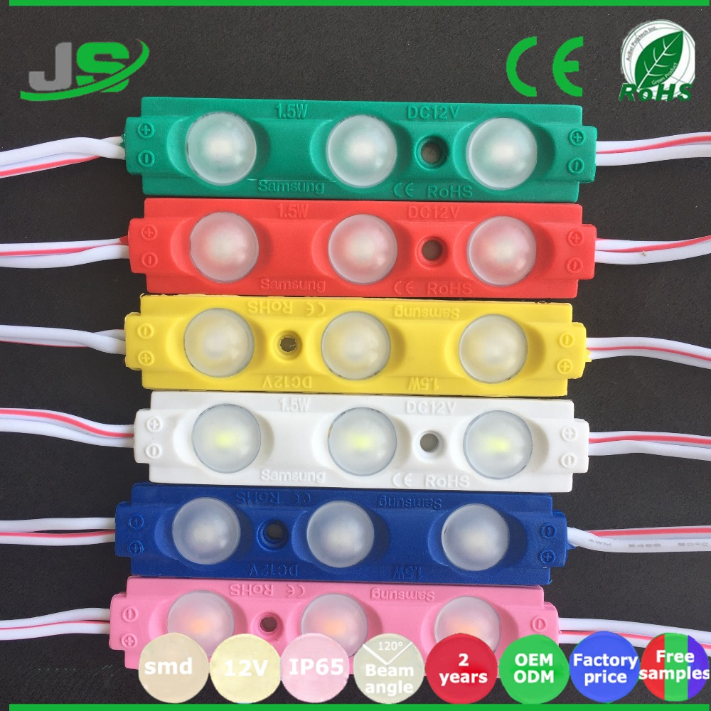 2017 factory direct sale Led Injection Module 3leds/piece Led PIXEL Module Light 5730 SMD DC 12V IP67 LED module