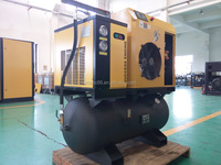 5.5KW 7.5hp oil injection integrated screw air compressor with air dryer and 250L tank